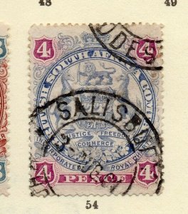 Rhodesia 1898 Early Issue Fine Used 4d. NW-170431