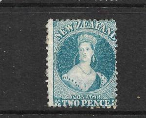 NEW ZEALAND 1864-67  2d   BLUE   FFQ  MLH  P12 1/2 CP A2N7  SG 115 CHALON