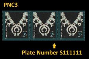 US 3758B American Design Navajo Jewelry 2c PNC3 MNH 2011