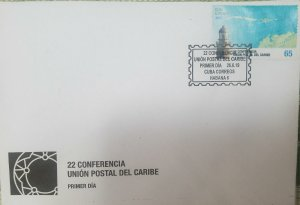 O) 2019 CUBA - CARIBBEAN, LIGHTHOUSE OF CASTILLO DEL MORRO, CARIBBEAN UNION POST