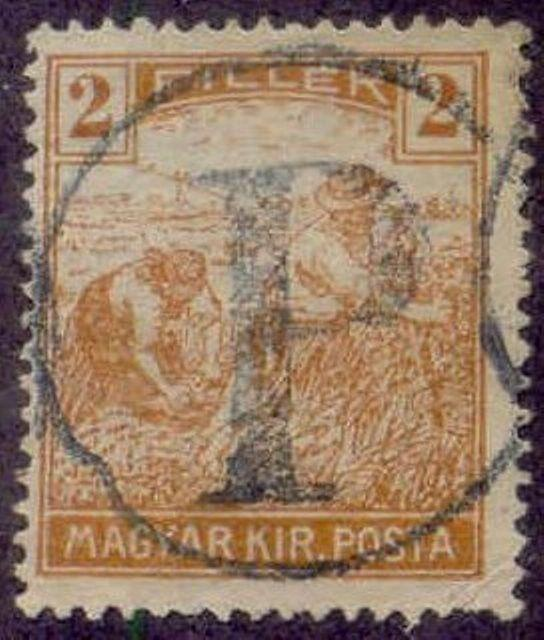 Hungary 1915-8 'P in Circle' Postage Due Overprint on 2f Harvesting Stamp
