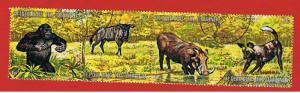Burundi #359  VF Used strip of 4 Animals  Free S/H
