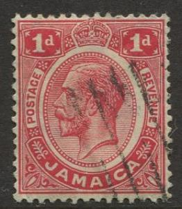 Jamaica -Scott 61 - KGV Definitive -1916 - Used - Single 1p Stamp