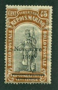 San Marino 1918 #B14 MDG SCV (2020) = $6.00
