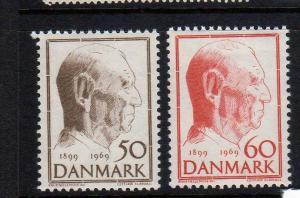 Denmark Scott 454-55 MNH!