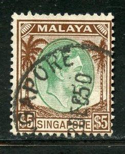 Singapore # 20, Used. CV $ 9.00