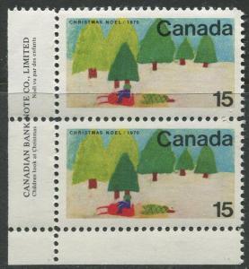 STAMP STATION PERTH Canada #530 Christmas 1970 MNH Pair CV$2.00