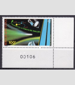 Wallis & Futuna 1986 SPACE Halley's comet 1 value Perforated mnh.vf
