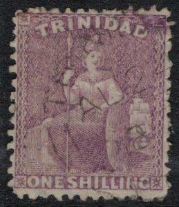 Trinidad #54  CV $10.00  tiny tear, light cancel Aug. 24, 1887