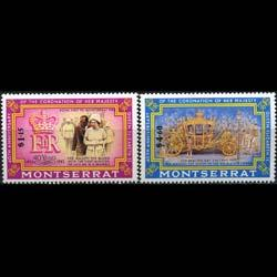 MONTSERRAT 1993 - Scott# 827-8 Coronation Set of 2 NH
