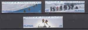 J27816, 2006 philippines set mnh #3071-3 mt everest