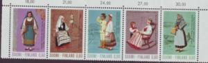Finland Sc533-7 1973 costumes stamp strip mint NH