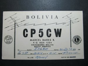 5672 Amateur Radio QSL Card Cochabamba Bolivia South America
