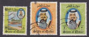 Qatar # 653, 654 & 657, Sheik Kallifa, Used, 1/3 Cat.