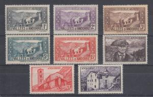 French Andorra Sc 23/118 MLH. 1932-1951 Pictorials, 8 different, F-VF