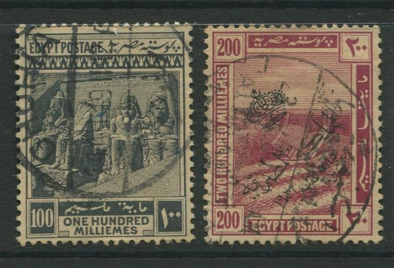 Egypt - Scott 90-91 - Definitive Issue -1922 - FU - Set of 2 Stamps