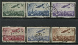 France 1936 Airmails to 3f50 used
