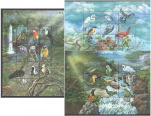 PK115 BHUTAN FAUNA BIRDS OF THE WORLD 3SH MNH STAMPS