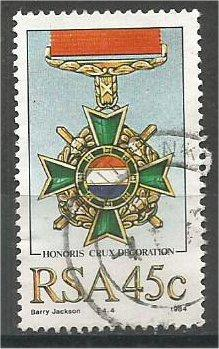 SOUTH AFRICA, 1984, used 45c, Military Medals  Scott 645
