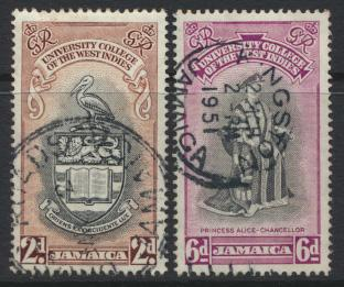 Jamaica SG 149 / 50  Used  SC# 146 / 7  BWI University College  see details