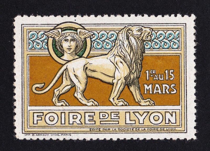 REKLAMEMARKE POSTER STAMP FRANCE FOIRE DE LYON CIRCA 1930