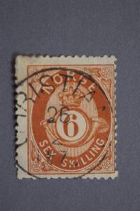 Norway #20 6 Skilling 1875 $65.00