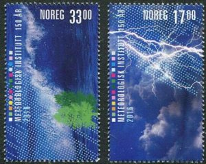 HERRICKSTAMP NEW ISSUES NORWAY Sc.# 1799-1800 Meteorological Institute