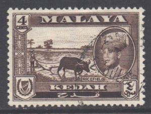 Malaya Kedah Scott 97 - SG106, 1959 Sultan 4c used