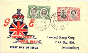 Southern Rhodesia, Worldwide First Day Cover, Royalty