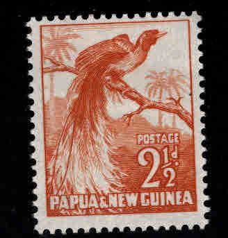 Papua New Guinea, PNG  Scott 125 MNH** 1952 Bird of Paradise stamp