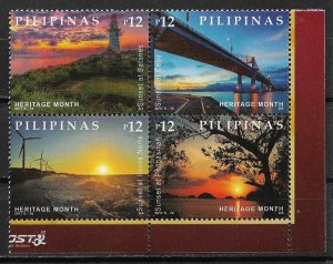 2017 Philippines Sunsets Michel: PH 5166-9 MNH block of 4