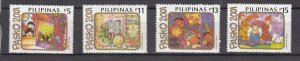 J27800  2001 philippines mnh set #2755-8 christmas