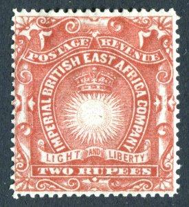 British East Africa/KUT 1890. 2r brick red. Mint Hinged. SG16.