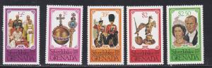 Grenada # 788-792, Queen Elizabeth Silver Jubilee, Hinged, 1/3  Cat.