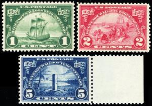 614-16, Mint VF NH Set of Three Stamps - Stuart Katz