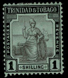 TRINIDAD & TOBAGO GV SG154, 1s black/green, M MINT.
