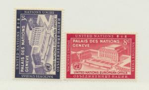 United Nations (New York) Scott #27 To 28 From 1954 - Free U.S. Shipping, Fre...
