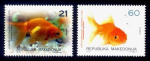 Macedonia Sc# 652-3 MNH Goldfish
