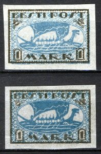 Estonia 1919, Vikingship 1 Mark, Mi 12 shades MNH (E100021)