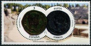 HERRICKSTAMP NEW ISSUES SPAIN Sc.# 4233 Coins Embossed