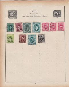 Egypt Stamps on Album Page ref R18940