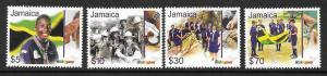 JAMAICA SG1136/9 2007 SCOUTS  MNH