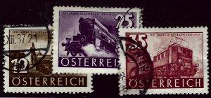Austria #385-387 Used F-VF SC$5.25....Grab a Bargain!