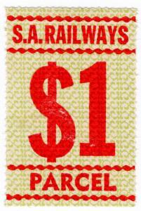 (I.B) Australia - South Australia Railways : Parcels Stamp $1