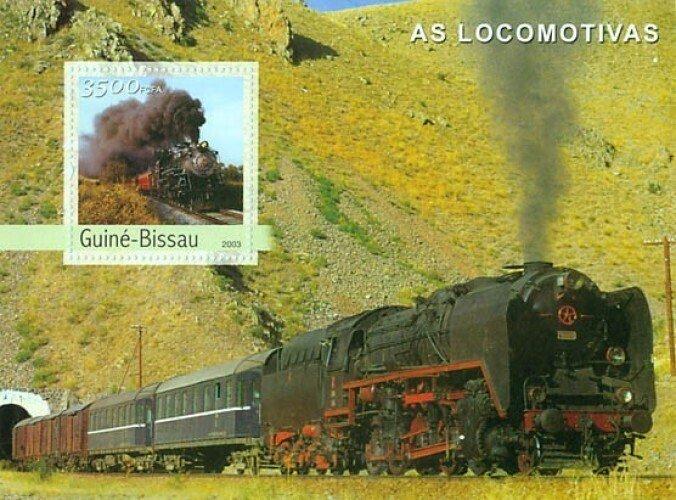 Guinea-Bissau MNH S/S Locomotives 2003