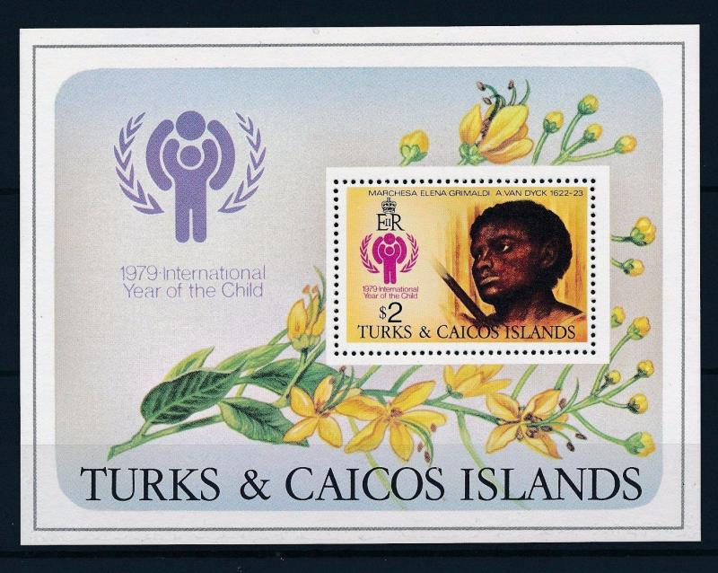 [35451] Turks & Caicos 1979 International year of the child Painting S/S MNH