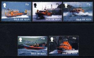 Isle of Man 1999 , Lifeboats MNH Set # 816-820