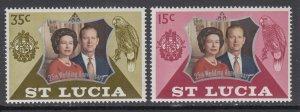St Lucia 328-329 MNH VF