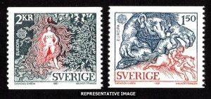 Sweden Scott 1352-1353 Mint never hinged.