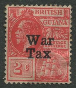 STAMP STATION PERTH British Guiana #MR1 - War Tax MH Wmk 3 CV$2.00